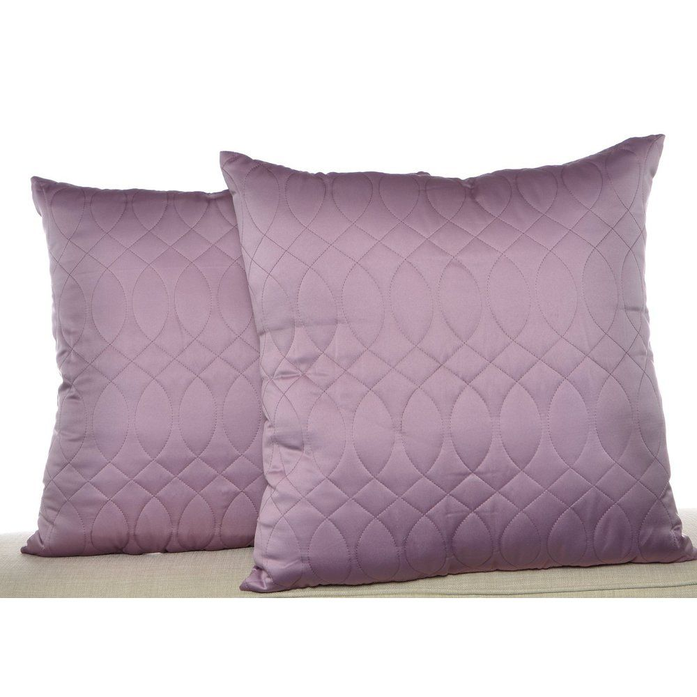 Nicole Miller NY Splendid Purple Quilted Decorative Pillows (Set ...
