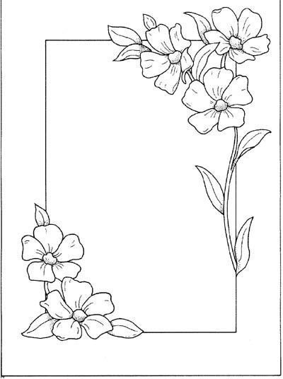 22++ Border designs simple flower border coloring pages ideas