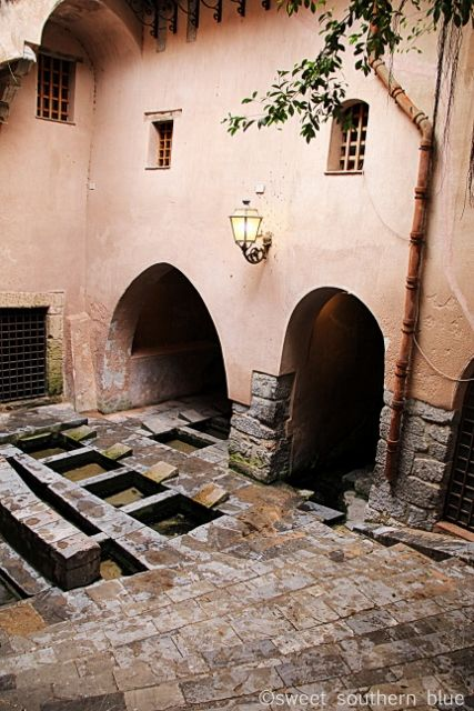 "Cefalu, Sicily ~  Medieval wash house – ""lavatoio"" – which is fed by a natural spring."