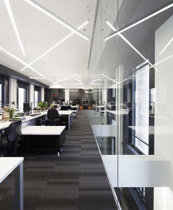 workspace lighting. LEMAYMICHAUD | Québec Design Office Corporate Architecture Workspace Lighting