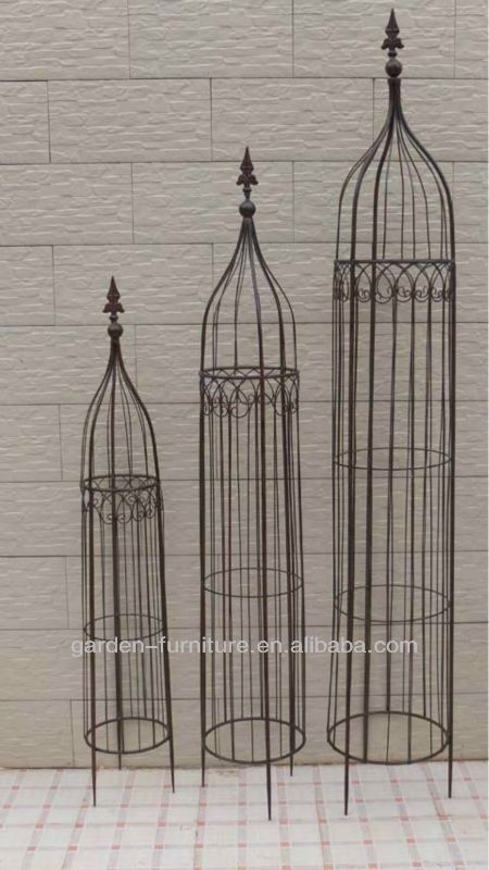 Outdoor Yard Lawn Ornaments Wholesale Large Iron Trellis Flower Tower Decorative Wrought Iron Metal Garden Ob Garden Obelisk Metal Obelisk Trellis Iron Trellis