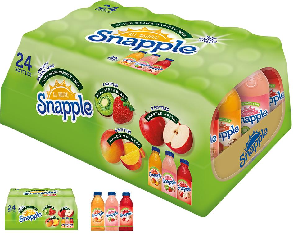 Snapple Juice Variety Pack (20 oz., 24 pk.) Sam's Club