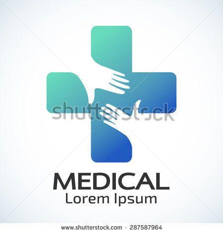 Medical Pharmacy Logo Design Template Vector Illustrator Stock