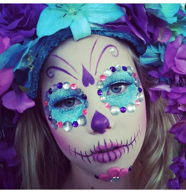 Sugar skull catrinas makeup Pinterest Dia de las muertos