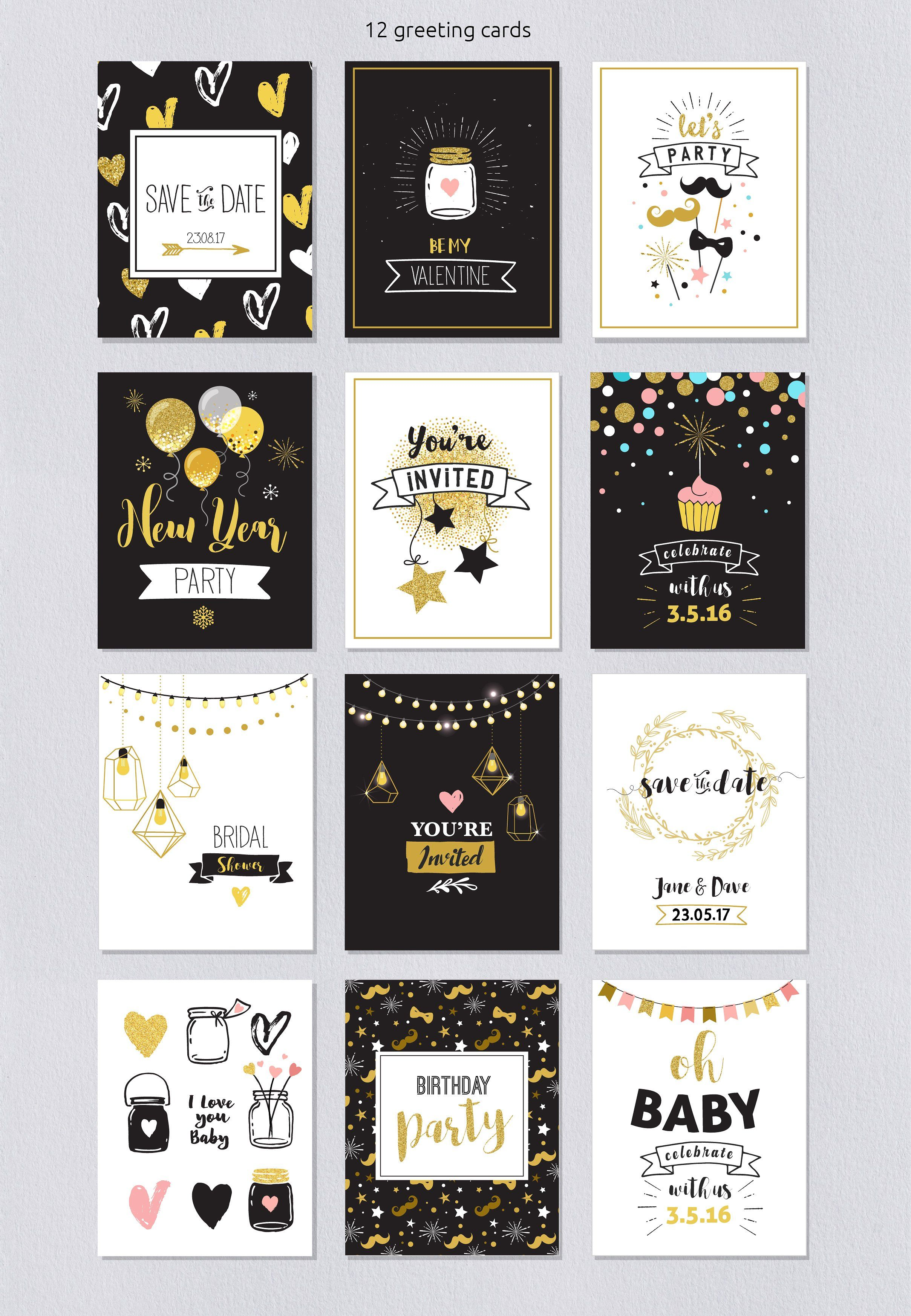 Let S Party Ultimate Party Pack Birthday Card Drawing Watercolor Birthday Cards Birthday Cards Diy