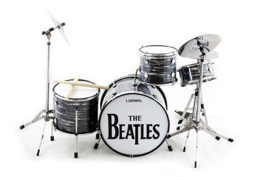 Ringo Starr Beatles Miniature Drum Set BT Amazon