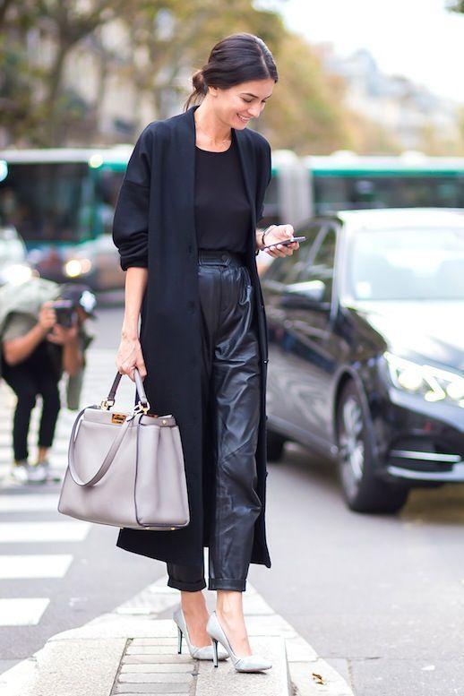 8a41e7e737 Pantaloni di pelle abbinamenti: 14 idee per voi! | Cose bellissime ...