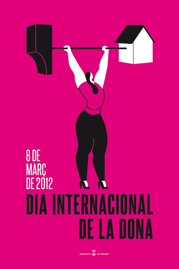 International Women S Day Poster By Miguel Porlan Via Behance International Womens Day Poster Ladies Day Happy Woman Day