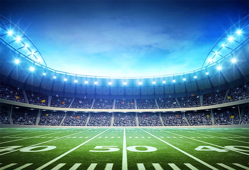 Football Field Green Lawn Stadium Lights Sport Photo Backdrops G 302 Fields Photography Background For Photography Grass Backdrops