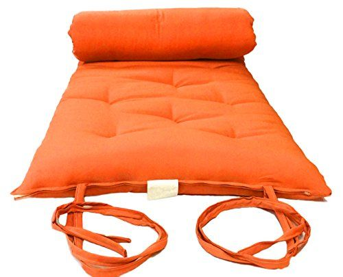 Brand New Queen Size Orange Traditional Japanese Floor Futon Mattresses Foldable Cushion Mats Yoga Meditaion 60