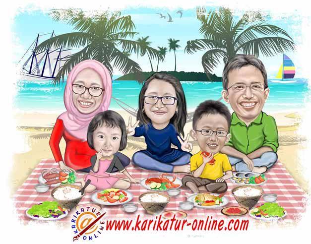 karikatur keluarga
