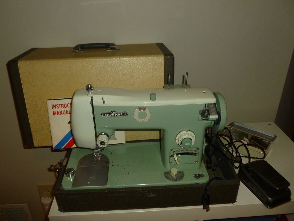 Details About Vintage Sewmor Sewing Machine Deluxe Model 40 Japan Gorgeous Electro Hygiene Sewing Machine