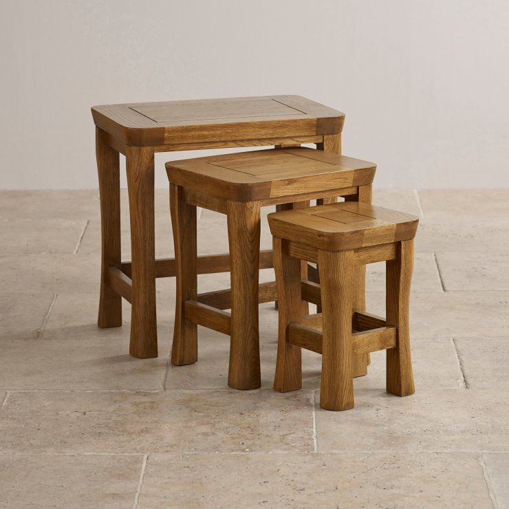 Orrick Nest of Tables Solid Oak