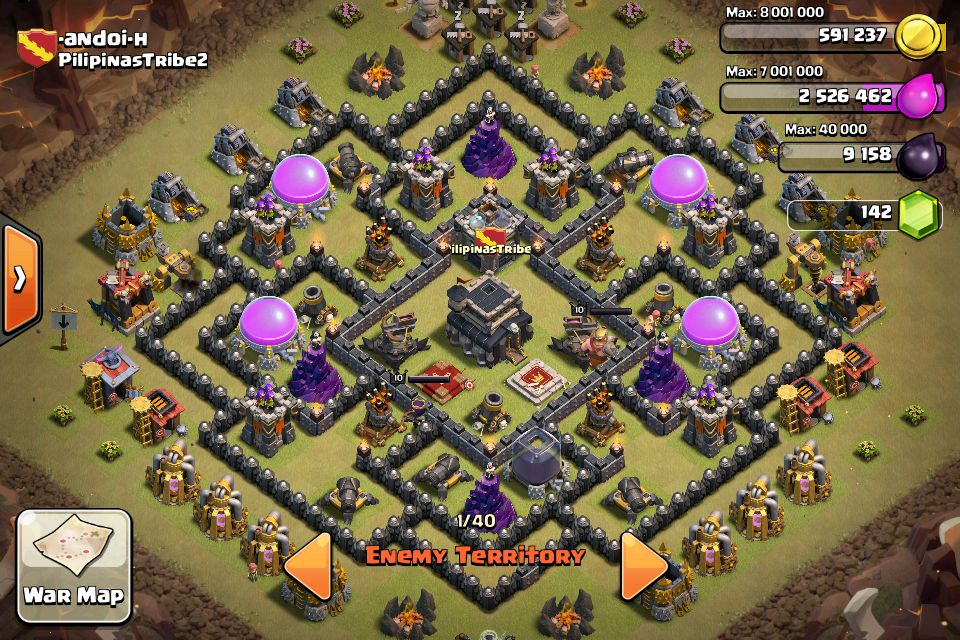 Gambar Base Coc Th 9 War Terkuat 5