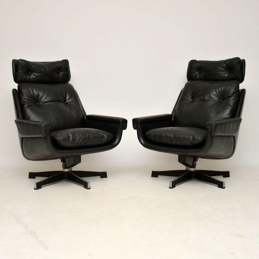 leather rocking swivel armchairs by peem retro mid century rh pinterest com