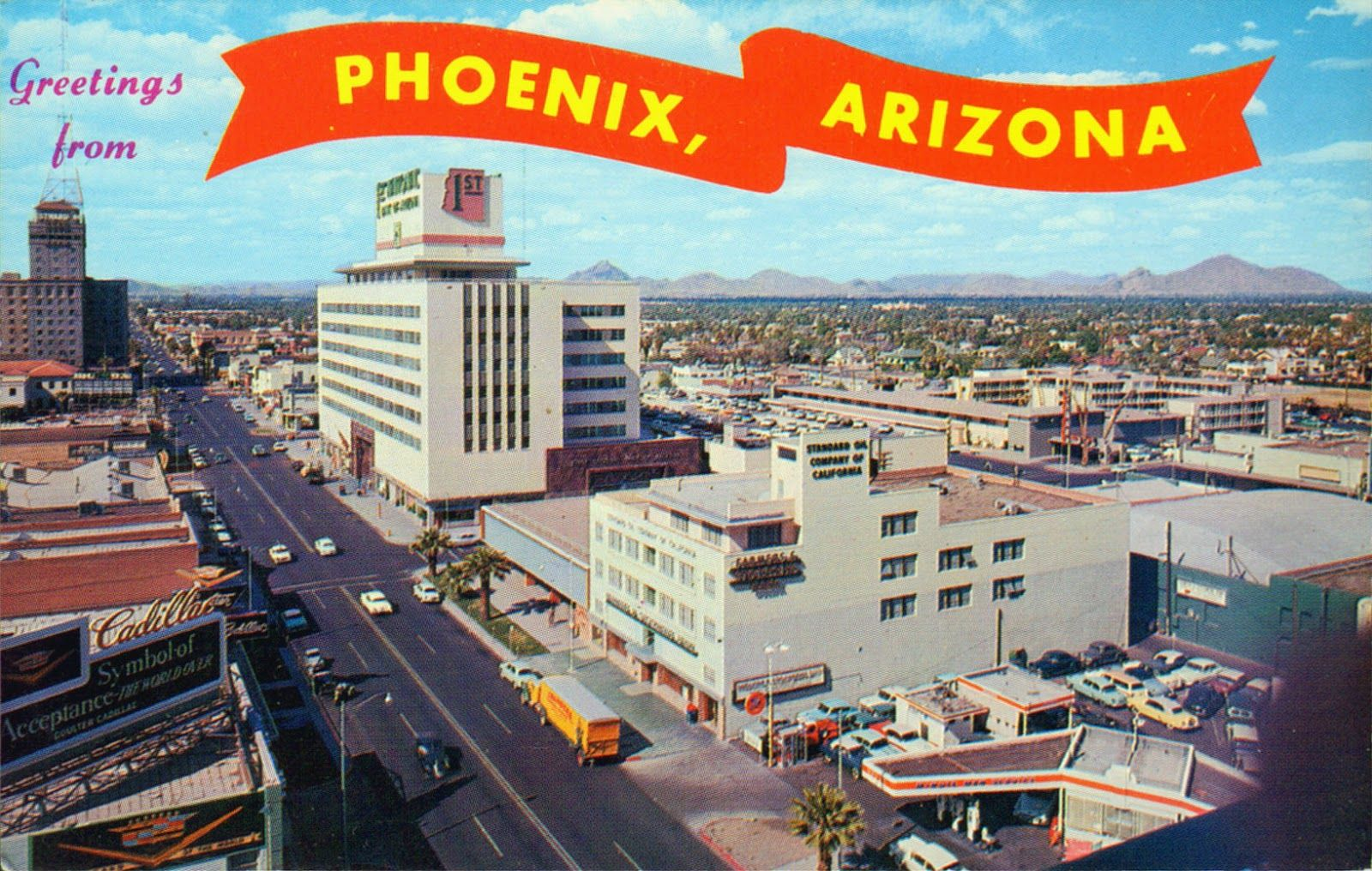 Vintage Phoenix Arizona in the 1950s and 1960s Old stores