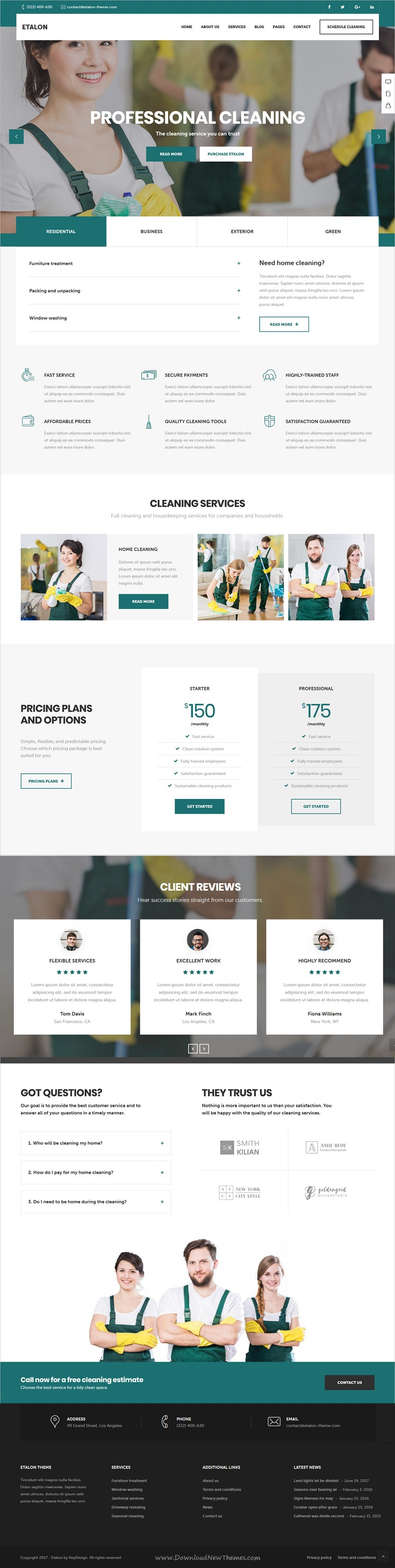 Etalon Multi Concept Theme For Professional Services Wordpress Theme Free Responsive Layout Download User Interface Design