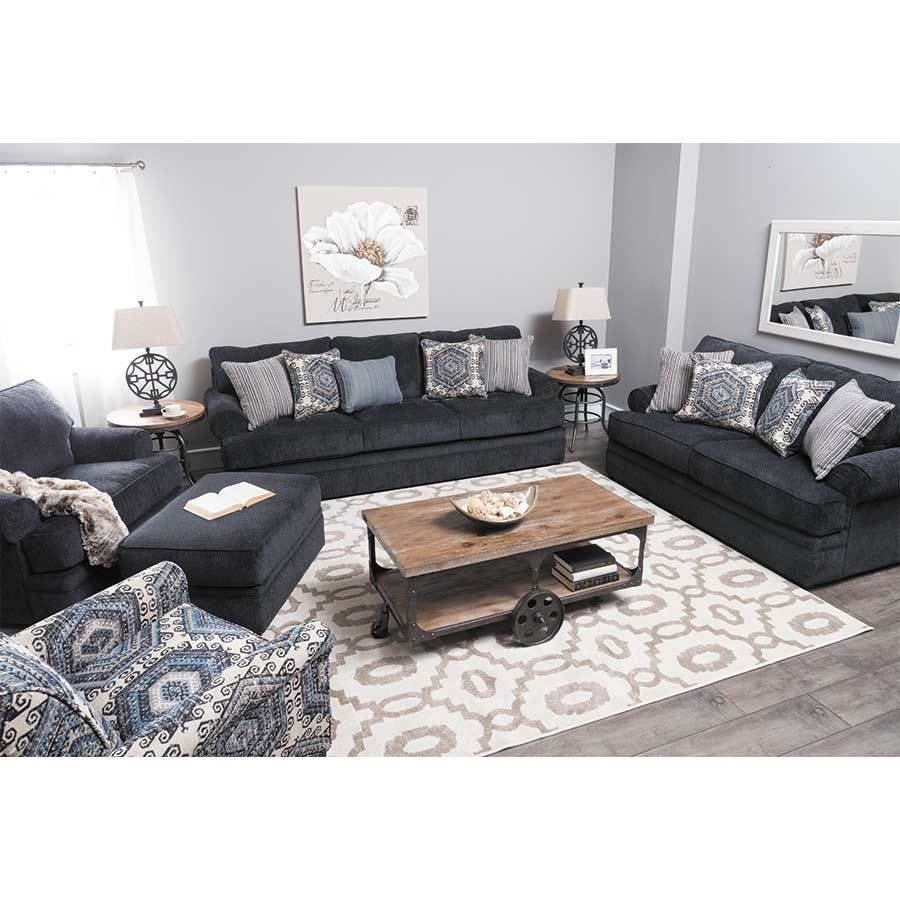 bellamy slate blue sofa dream home blue loveseat blue couch rh pinterest com