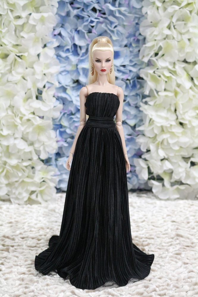 Gown-Outfit-Dress-Fashion-Royalty-Silkstone-Barbie-Model-Doll-FR BY T.D.25/5/5 #FashionRoyalty #ClothingAccessories