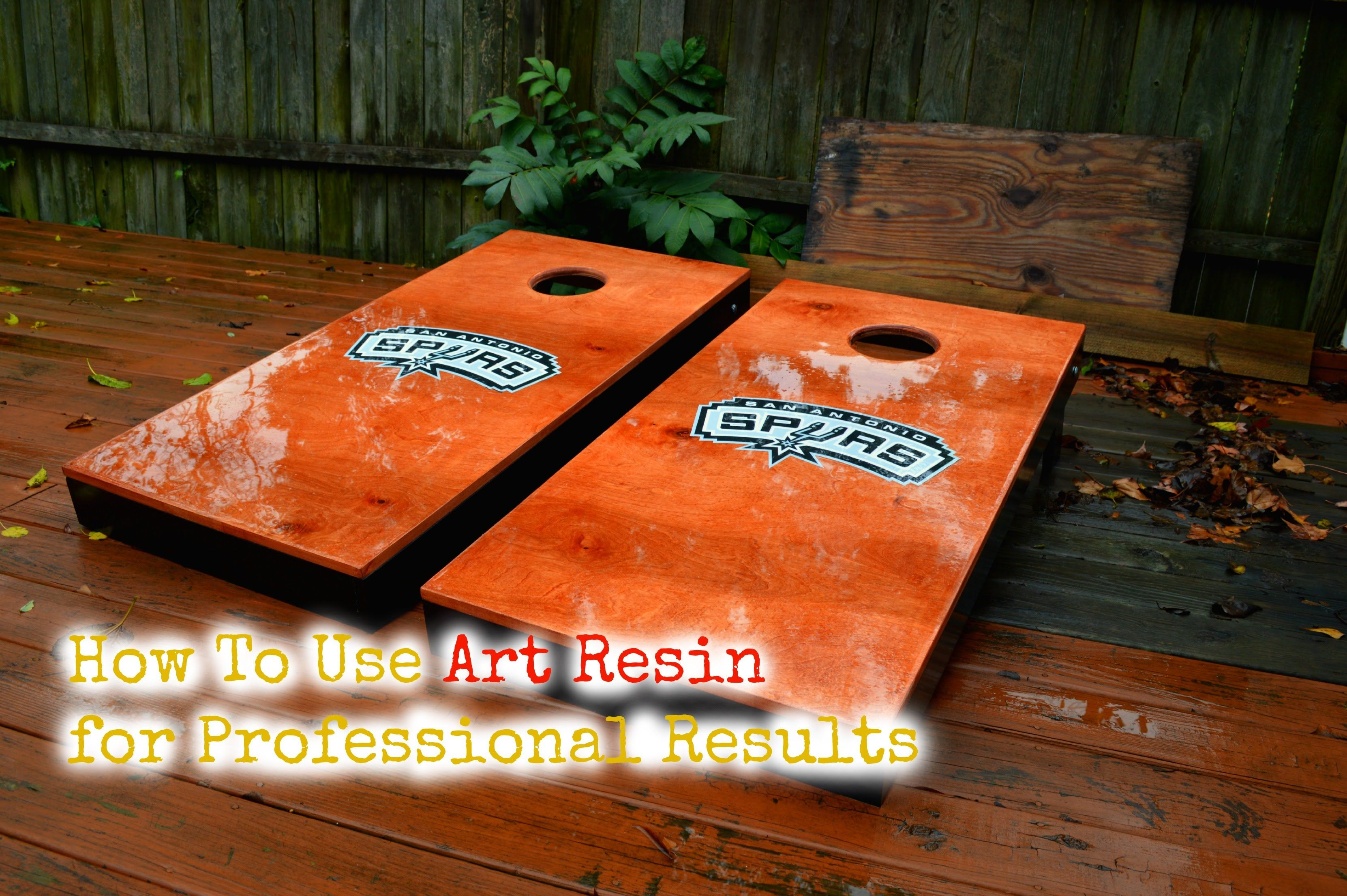 Cornhole Board Finish- Art Resin   Furniture   Wood   Pinterest ... for Epoxy Resin Wood Art  51ane