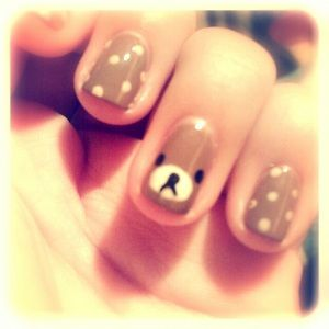Rilakkuma Nail, I am about to faint. 來源: