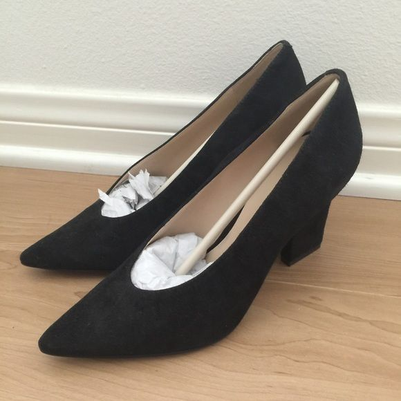 Nine West Udala Pumps New in box. Black suede pointy toe pumps. Soft  comfortable