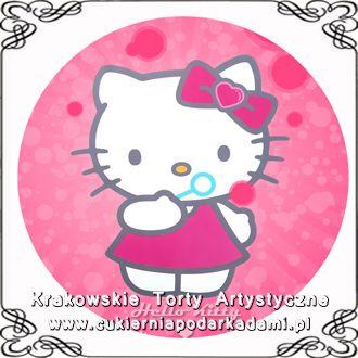 014. Różowy fototort z Hello Kitty. Hello Kitty photocake.