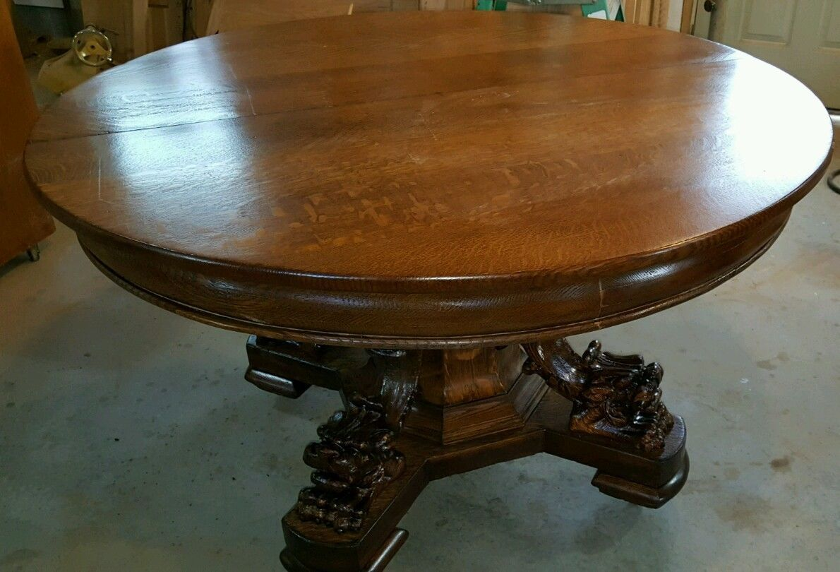 antique quartersawn oak dining table quartersawn oak wishlist rh pinterest com