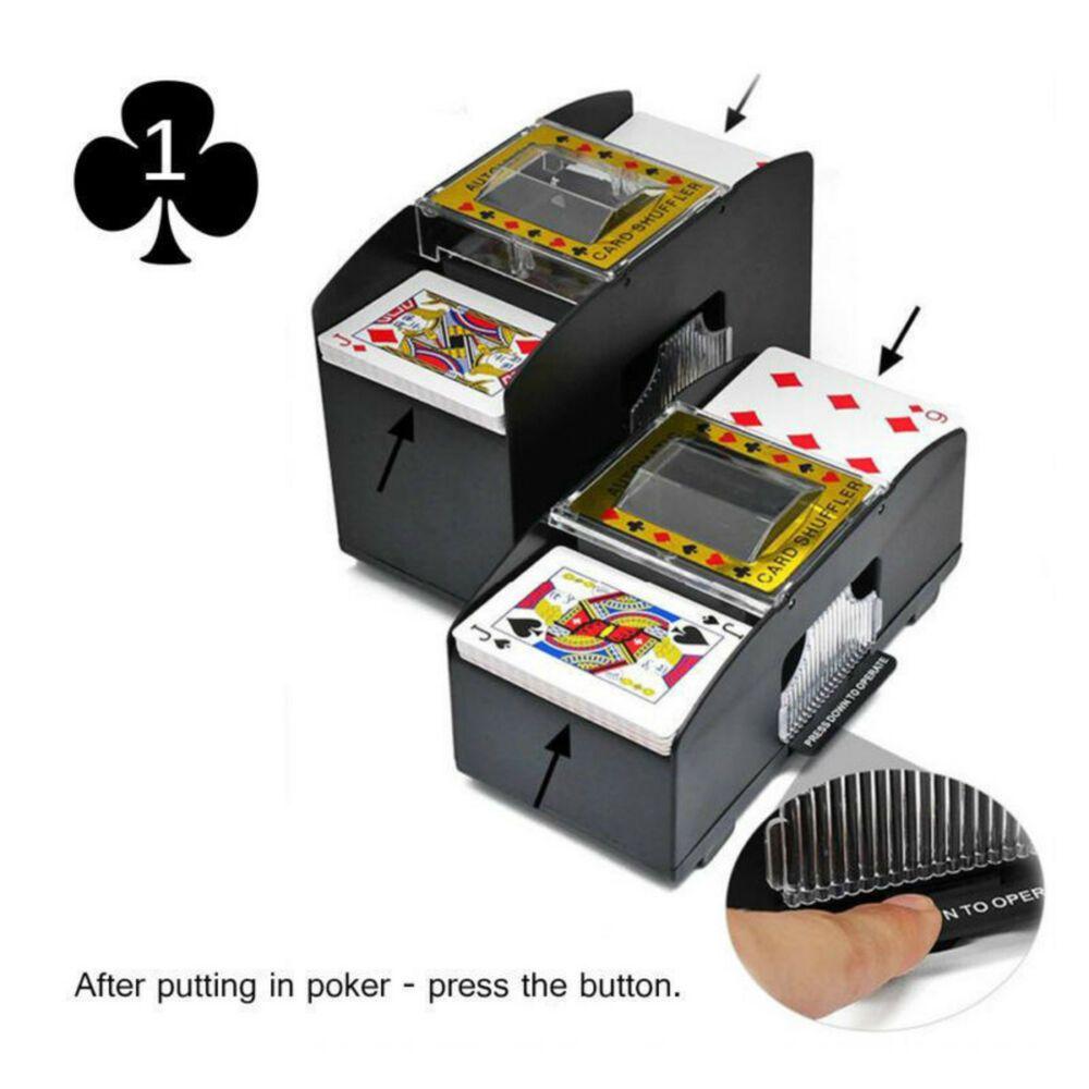 AUTOMATIC PLAYING CARDS SHUFFLER POKER CASINO ONE//TWO DECK CARD SHUFFLE SOR