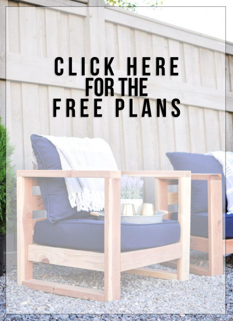diy modern outdoor chair free plans easy diy s diy garden rh pinterest com