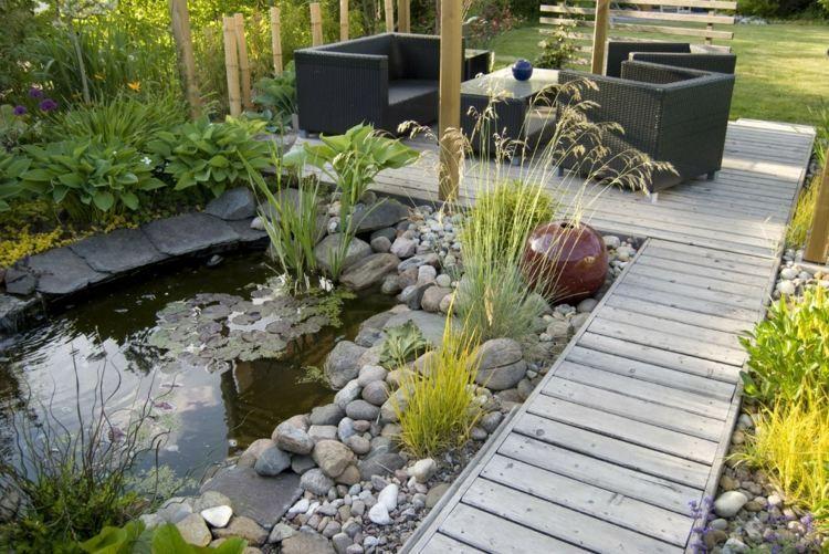 Rocaille de jardin: idées aménagement et décoration   Bassin de ...