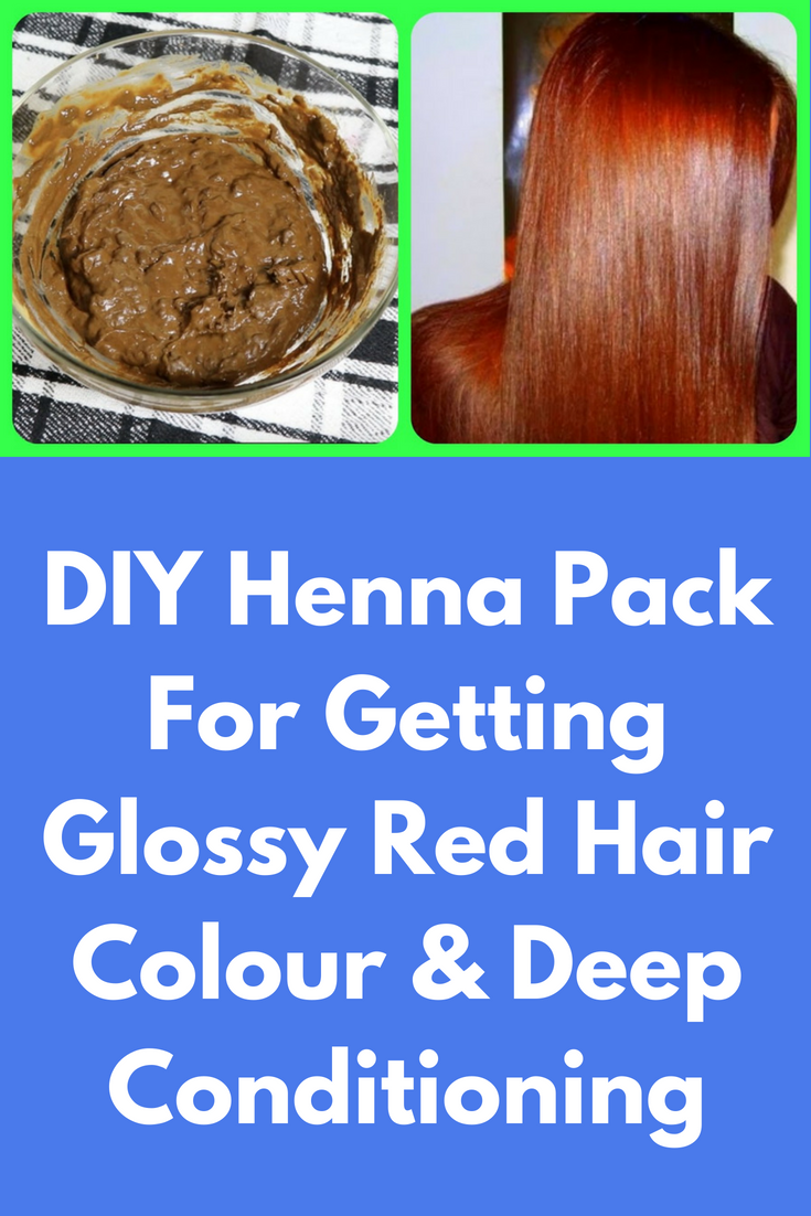 Diy Henna Pack For Getting Glossy Red Hair Colour Deep