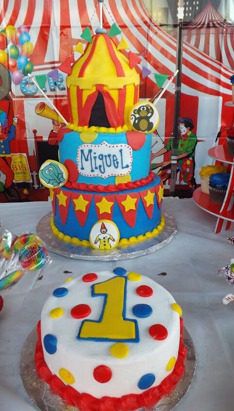 My Sons First Birthday Cake Circus Carnival Theme Circus