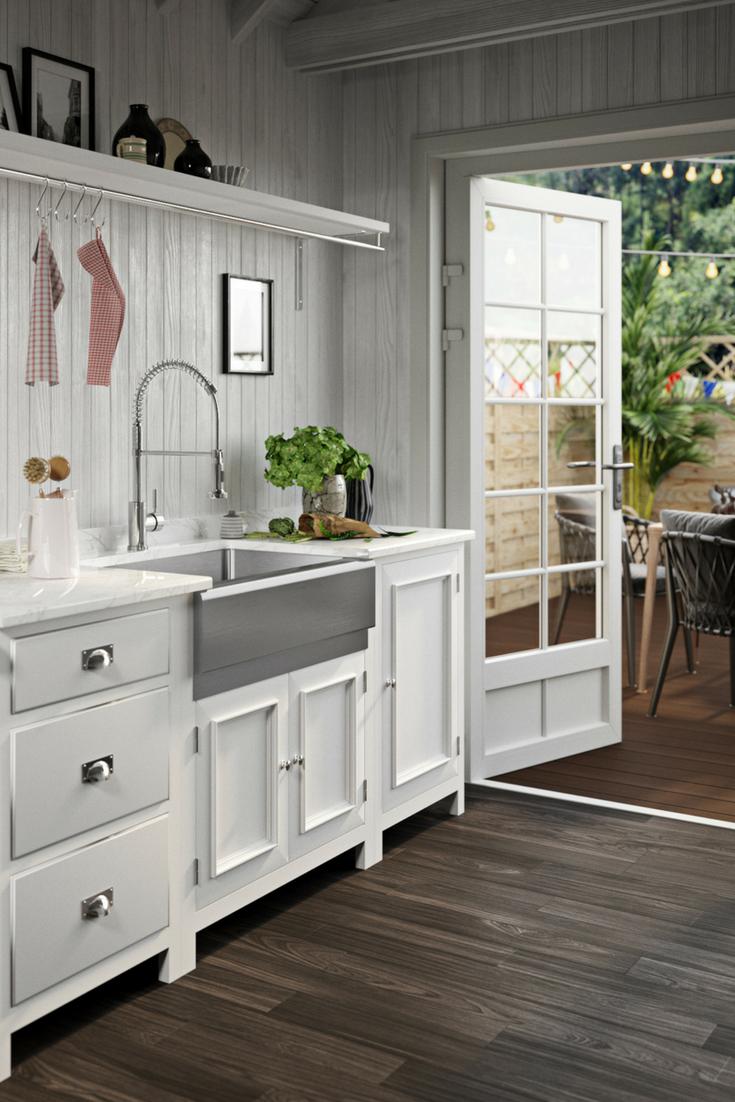 405 single bowl stainless steel apron sink in 2019 design rh pinterest com