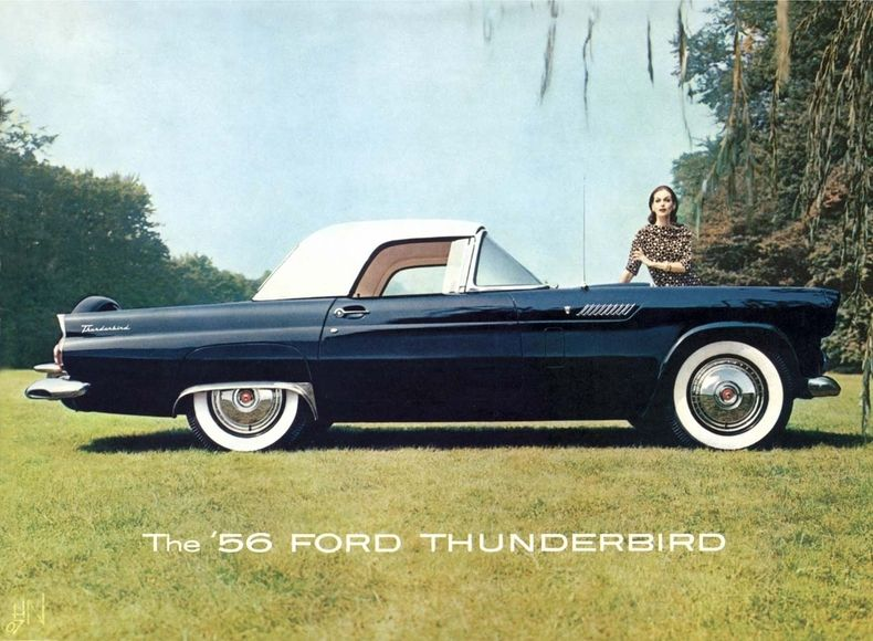 1956 thunderbird specs colors facts history and performance rh pinterest com