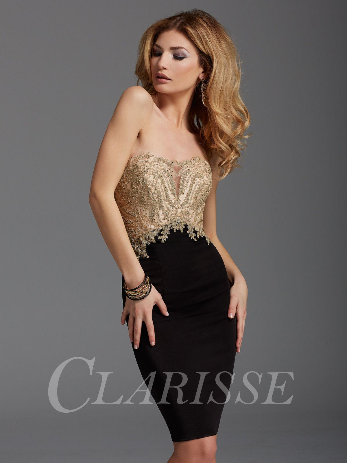 Clarisse Black and Gold Cocktail Dress 2904 | Pinterest