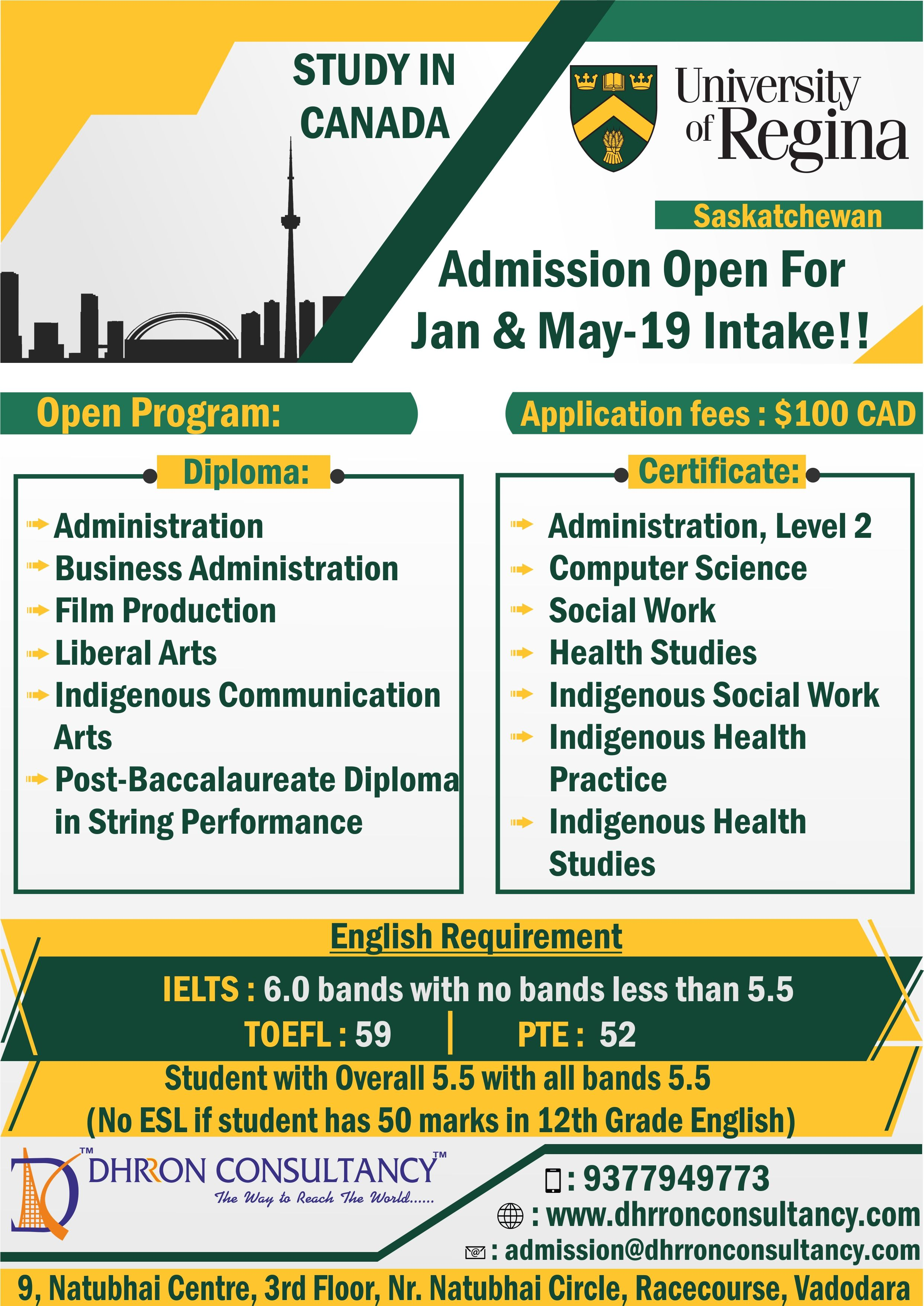 Do you want to study in canada apply in university of