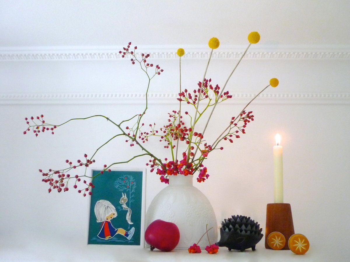 Herbsteinzug im meisennest tischdeko herbst hagebutte for Dekoration tauschen