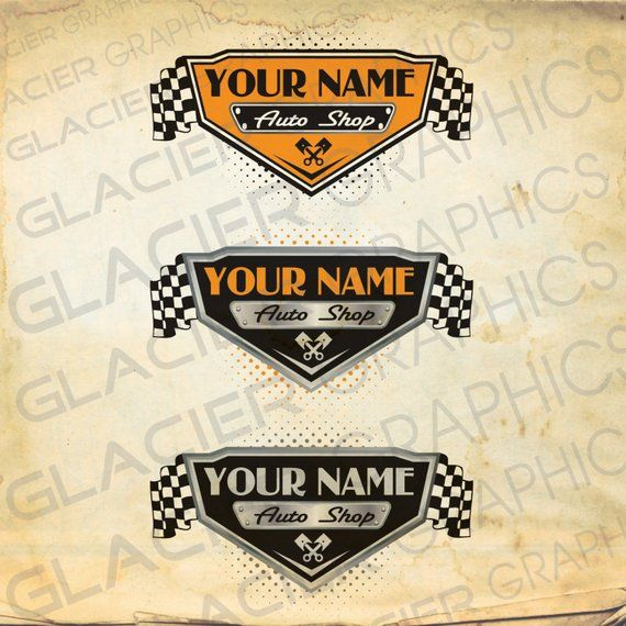 Vintage Auto Shop, Auto Body, Auto Service Motorcycle Shop Custom Logo Personalized #911craftsfortoddlers