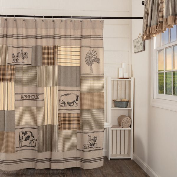Lighthouse Fabric Shower Curtain with 12 Hooks Funny