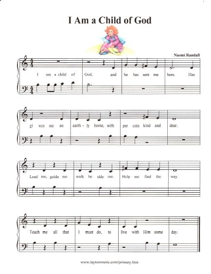 Simplified LDS Primary Songs | Church stuff | Primary songs, Easy