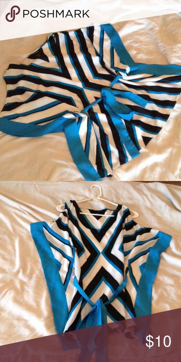 Selling this Ashley Stewart Cold Shoulder Belted Top in my Poshmark closet! My username is: keya_s. #shopmycloset #poshmark #fashion #shopping #style #forsale #Ashley Stewart #Tops