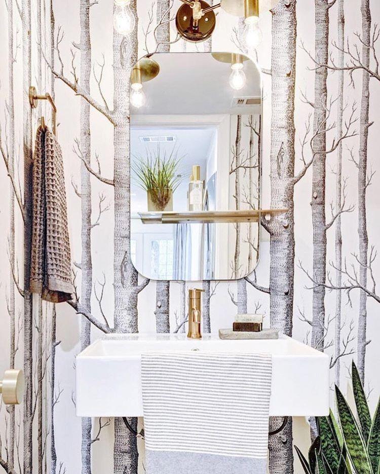 pin by designs by katrina on powder rooms bathroom wallpaper rh pinterest com