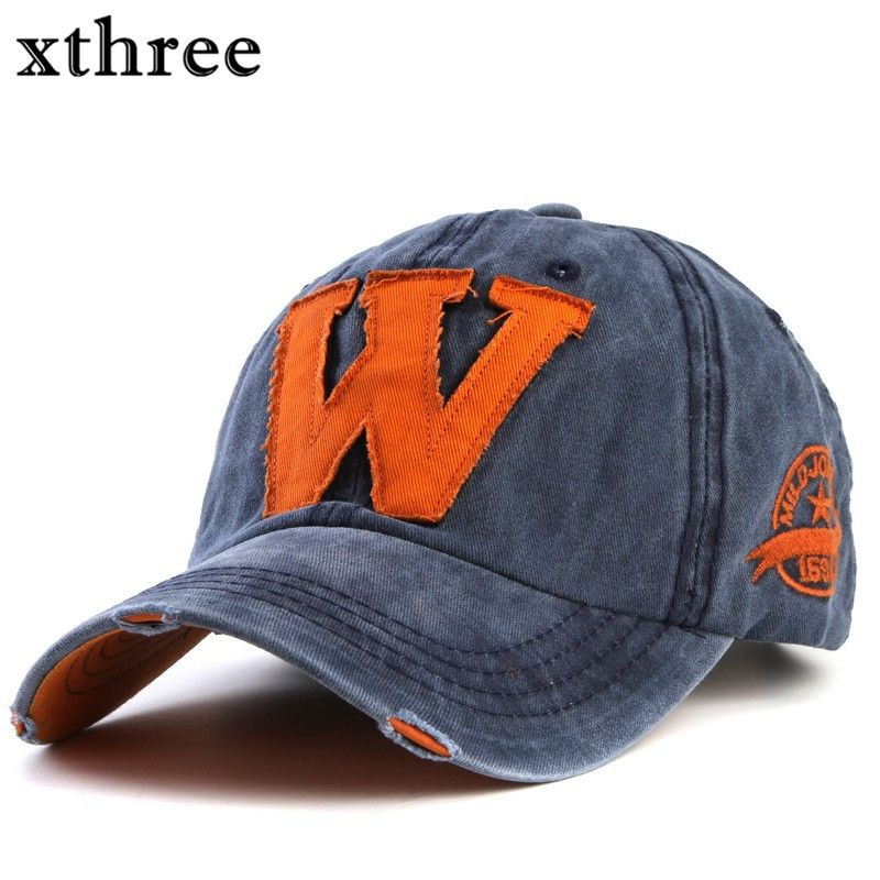 Xthree hot cotton embroidery letter W baseball cap snapback caps fitted bone  casquette hat for men f8562e00bf9c