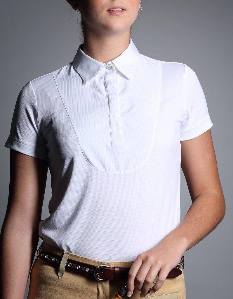 Giddy up girl white show shirt shirts white collar collars