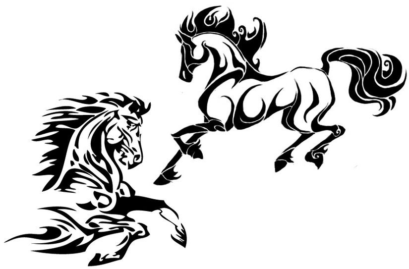 tattoos of horses  horses coloring pages antistress