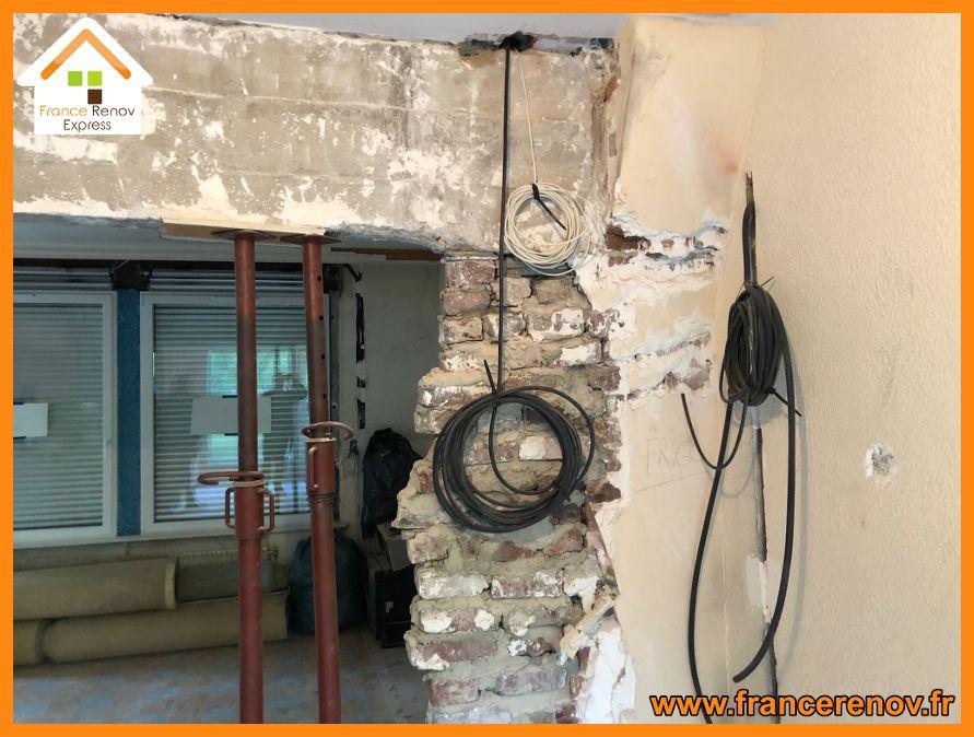 Ouverture de mur porteur et pose d\u0027 IPN à Lomme Extension de