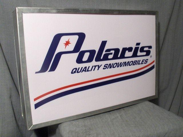 Polaris Dealer Sign Snowmobile Polaris Snowmobile Vintage Sled
