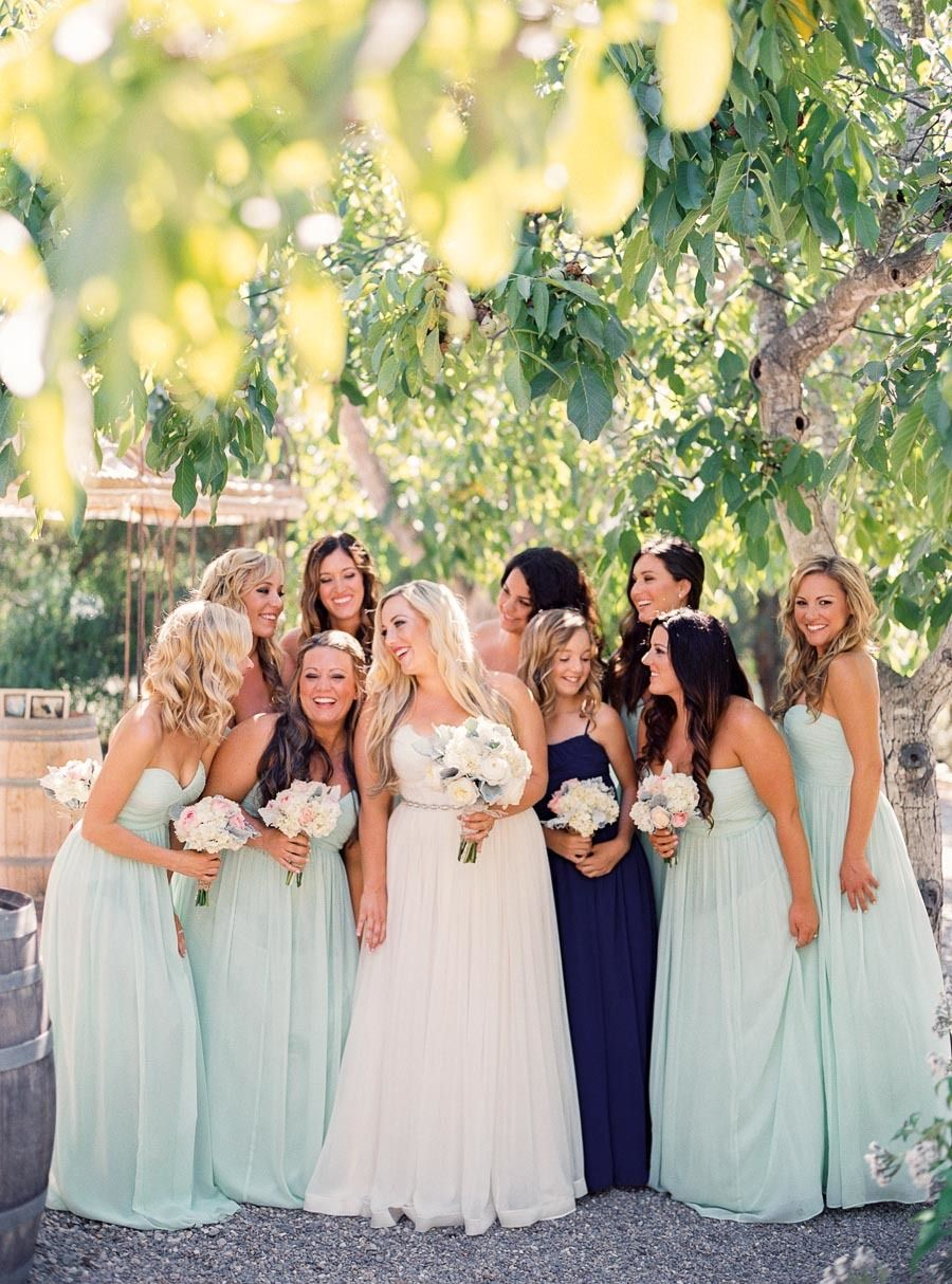 Eclectic Mint Gold Outdoor Wedding