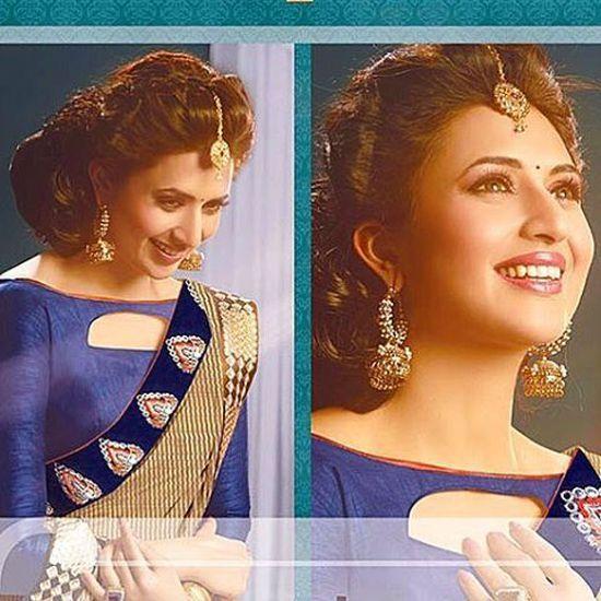 de9907c0b5b8c5 Divyanka Tripathi | Vishal | Blouse designs, Saree blouse designs ...